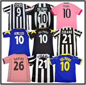 Jersey de football rétro Juve Del Piero 84 85 92 95 96 97 98 99 02 03 11 Zidane Ancien Maillot Davids Davids Oldest Shirt