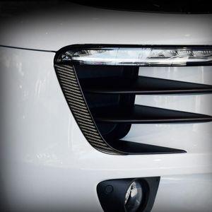 Accessori per Porsche Macan 2014-2020 Fibra di carbonio Fronte Frontale Sopracciglio Strips Strisce Esterno Adesivi modificati Auto Styling Car Styling