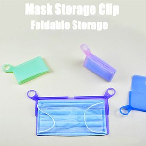 Silicone Flat Type Mask Storage Box Mask Temporary Clip Dust-proof Pollution-proof Security Mask Holder Bags Artifact EWD3279