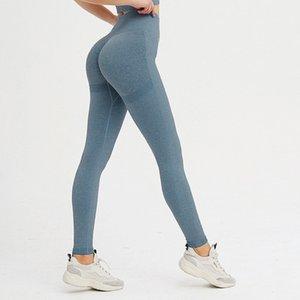 NCLAGEN Perspiración de la absorción de la humedad sin costura NCLAGEN Gimnasios Leggings Mujeres Entrenamiento Fitness Elastic Scrinched Leggings
