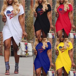 LOVE Women Summer Dress Cross Designer Short Sleeved Solid Color Casual Dresses Plus Size 5XL Women Designer Dresses