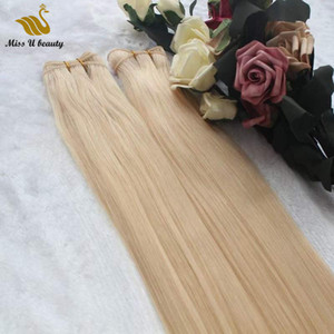 Remy Hair Extension Hand Tie Weft Hair Weaves Light Brown Blonde Color 2 Bundles 100g bundle