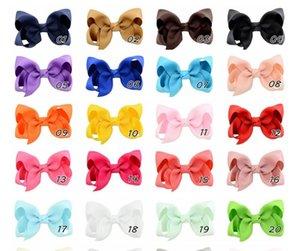 40 teile / los 3 zoll reine farbe sommer stil massiv band bögen mit haarklemmen boutique kinder haarschmuck