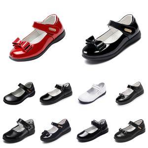 Zapatos de plataforma baratos para bebés Zapatos de cuero de cuero con fondos suaves Triple Triple Triple Blanco Blanco Al Aire Libre Sneakers