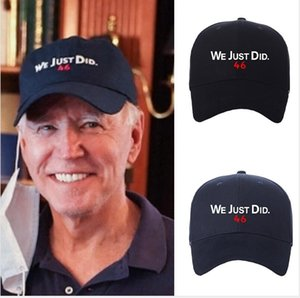 American Presidential Election Joe Biden WE JUST DID 46 Letters Baseball Ball Hat Caps Snapbacks President Biden Unisex Sport Hats E112405