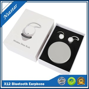 X12 Bluetooth earphone Noise Reduction Sleep Headset Wireless Subwoofer 3D Perfect Sound Headphones Bluetooth DHL free shiping