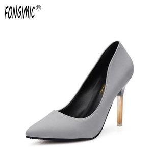 FONGIMIC женщин насосы насосы высокие каблуки салон для женщин классические туфли тонкие каблуки указанные насосы носки мода элегантный женский офис