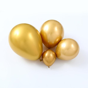 5 10 12 18inch Metallic Gold Silver Ballon Wedding Happy Birthday Latex Metal Chrome Balloons Air Helium Ballon