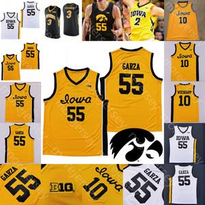 Özel 2020 Iowa Hawkeyes Basketbol Jersey NCAA Koleji Luka Garza Joe Wieskamp CJ Fredrick Bohannon Connor McCaffery Ahron Ulis Toussaint