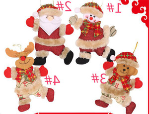 Cute Christmas Tree Decoration Pendant Santa Clause Bear Snowman Elk Doll Hanging Ornaments Christmas Decoration for Home Wholesale