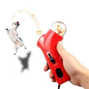 TREAT Launcher Snack Mini Food Catapult PET Interactive Toys Jump Training Tools Hundeförderer