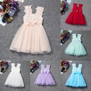 Infant Floral Top Lace Princess Toddler Dress for Girl Summer Baby Girls Sundress Tulle Birthday Party Kids Casual Wear