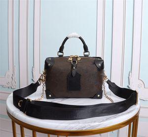 2021 Luxus Mode Clamshell Tasche Kleine Handtasche Dame Berühmte Marke Designer Messenger Bag Dame Schultertasche Leder Kette Dame Handtasche 1220