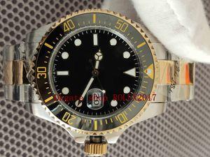 Mensaje superlativo Montañismo Basilea World 43mm Dos tonos Oro Automático 2813 Movimiento Cerámica Bisel 126603 Relojes Buceo con relojes 316L