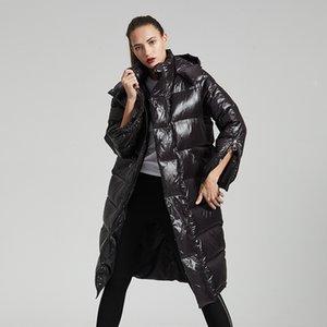 Eva Freedom Women's Winter 2020 Fashion Tendencia Capucha Largo Grueso Cálido Plus Talla Puffer Down Jacket Mujeres
