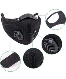 Outdoor Sports Cycling Mask Breathing Valve Mask for Men and Women With Filter Element Anti-smog Anti-dust Face Maks BEA2597