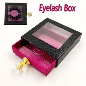Colorful Empty Eyelash Packing Box Faxu Mink Hair Paper Lash Boxes Pull-out Glitter False Eyelashes Eye Makeup Tools