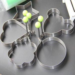 Stainless Steel Fried Star Heart Shaper Pancake Mould Creative Flower Frying Egg Mold Kitchen Cooking Baking Tool DHD2731