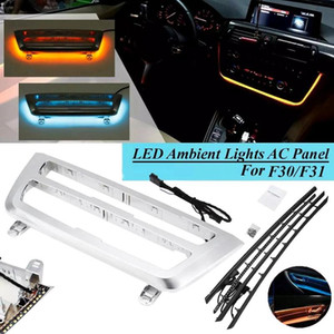 Chrome Car Dashboard Cover Trums لوحة AC LED Libient Light الباب الداخلي Libient Light Strip for- 3 Series F30 F31