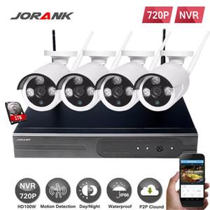 JONANK 4CH IR HD Home Security Système de caméra IP NVR Système de caméra IP NVR 720P Ensemble de CCTV en plein air Caméras Vidéo NVR Surveillance CCTV Kit