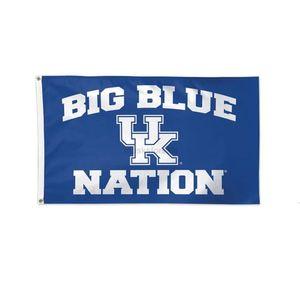 Wildkatzen UK Big BLUE BLUE Nation Flagge NCAA Kentucky Team Flagge 3X5FT Doppelt genähte Banner 90x150cm Sportfestival Digital PK8AX