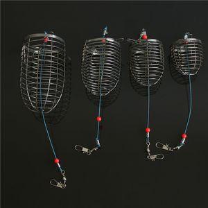 Konik Yem Kafesi Deşe Yuva Makinesi Paslanmaz Çelik Küçük Metal Sepetleri Kadın Adam Lures Tutucu Balıkçılık Dişli Ekipmanları 2rx K2