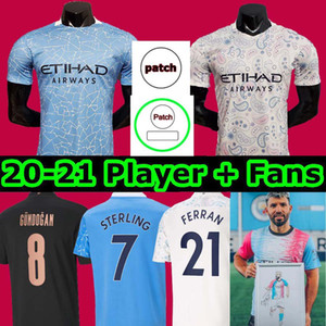 2020 2021 FC Homme HOMME Jersey de football 20 21 G. Jésus Sterling City Design A Kit de Bruyne Kun Aguero Shirts Football Chemises Uniformes Hommes + Enfants
