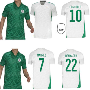 2020 2021 Алжир Джерси Национальная Униформа Униформа Человек Kit Atal Mahrez Футбол Джерси Бенрахма Беннакс Джерси Майолот де Алжин 20 21