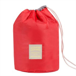 2019 New Barrel Shaped Women Cosmetic Bags Waterproof Makeup Bag Travel Organizer Toiletry Make up Bags Solid