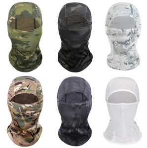 Camouflage Fitted Mascherine Bicycle Riding Sports Outdoors Mask Winter Windbreak Sunscreen Mens Balaclavas Anti Dust Adult 8 5ly G2