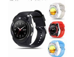 Smart Watch V8 Men Bluetooth Sport Watches Women Ladies Rel gio Smartwatch with Camera Sim Card Slot Android Phone PK DZ09 Y1 A1 (Retail)