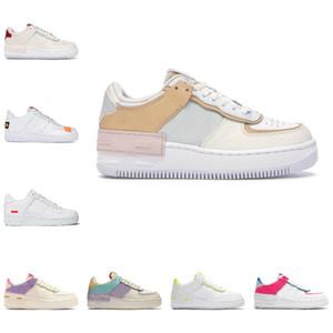 Nike Air Force 1 one airforce Shoes 2021 Baskets à plateforme pour hommes Chaussures de course Blanc Glacier Bleu Fantôme Blanc Saphir à peine Volt Shadow