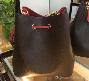Классические сумки Neo Noe Bags Bags Noé Кожаные Ведро Сумка Женщины Цветочная Печатная Печатка Креста Сумка Кошелек Бесплатная Доставка