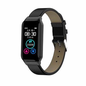 Hot L818 2-in-1 Smart Bracelet Fitness Tracker Sedentariness Heart Rate Blood Pressure Monitoring IP67 Waterproof Wristband