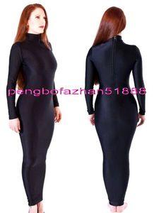 Sexy Black Lycra Spandex Women Wrap Dress Sexy Women Dresses Wrap Dress Body Bags Halloween Fancy Dress Party Cosplay Costumes P443