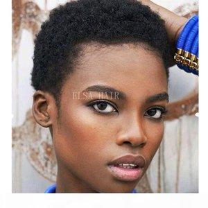 Curtas perucas de cabelo humano Kierey Clemons curtos Afro Kinky Curly Renda dianteira Perucas de Cabelo Peruano Virgin Virg Lace Wig