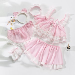 Little Cute Cat Girl Sexy Maid Uniform Temptation Hot Transparent Kawaii Lingerie Ruffle Cosplay Sex Toys Role-playing