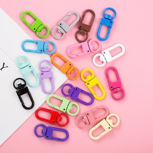 Color Paint Keychains DIY Women Fashion Jewelry Accessories Metal Binder Clips Key Ring High Quality Keychains Handmade S301
