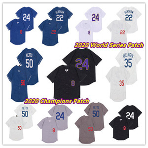 Men 2020 garçon World Series WS Champions Mookie Betts Los Angeles Jersey Cody Bellinton Clayton Kershaw 8 24 Bryant Baseball Mamba Maillots