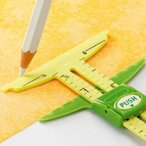 5-IN-1 Sliding Gauge Measuring Sewing Tool Patchwork Tool Clear Sewing Drawing Ruler Tailor Ruler Tools Home Accessories Kit