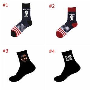 Black Lives Matter Socks George Floyd Black Lives Nutte Unisexe Adulte Chaussettes occasionnelles Basketball America Flag Hwe3004
