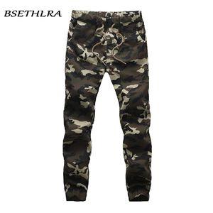 Bsethlra New Joggers Pantalones Hombres Camuflaje Military Puro 100% Algodón Primavera Autumn Harem Pant Pantalones Pantalones Camo Mens Joggers Y200114