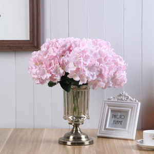 1PC 5 Heads Flower Stem For Hydrangea Rose Peony Flower Wall Ball For Wedding Decoration Home Party Shop Baby Shower Decor