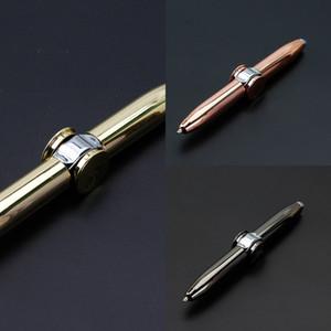 Top sfera delle dita multi funzione girante luminoso metallo penna creativa ha condotto la decompressione giocattolo Fidget d'oro Spinner P7BX