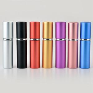 5 мл парфюмерные флакон алюминиевые анодированные компактные парфюмерии распылитель амортизатор стекло с ароматом аромата путешествия погребенный макияж спрей бутылка CYZ2970
