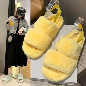 Un Yona 2021 hiver Nouveaux pantoufles femmes femmes plate-forme intérieure peluche fashion pantoufles femmes j1205