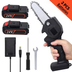 Mini-Handheld-kabelloser Kettensägen-4-Zoll-elektrischer tragbarer Haushalt wiederaufladbares Kettensägen für Holzschneidefrucht-Baum-Beschneidung und -logging