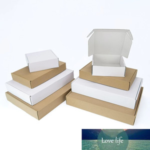 10Pcs White or Brown Kraft Paper DIY Foldable Cardboard Boxes Gift Pack Bedding Children's Clothing Shoes for Party