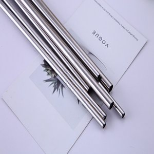 Colorful Stainless Steel Drinking Straws Straight and Bent Reusable Filter With Brush DIY Tea Coffee Tools Cleaner Brush EEF3519