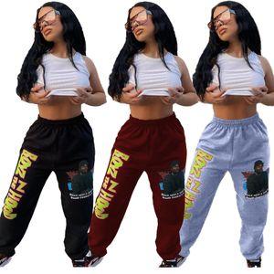 ZOOEFFBB Casual Joggers pantalón para Womens caída de cadera ropa elástico Gráfico Moda Hop Y2k Pantalones de cintura alta Pantalones de Carga